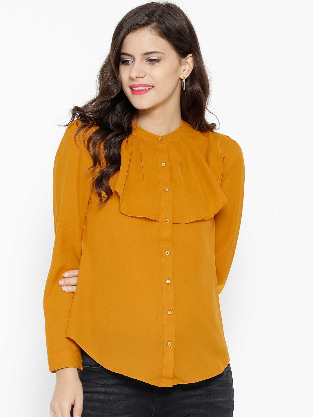 Top 10 fashionable yellow shirts for men and women for Shirt styles for ladies