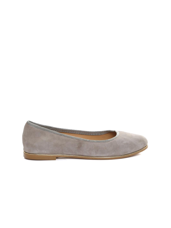 Carlton London Women Grey Suede Ballerinas-toe