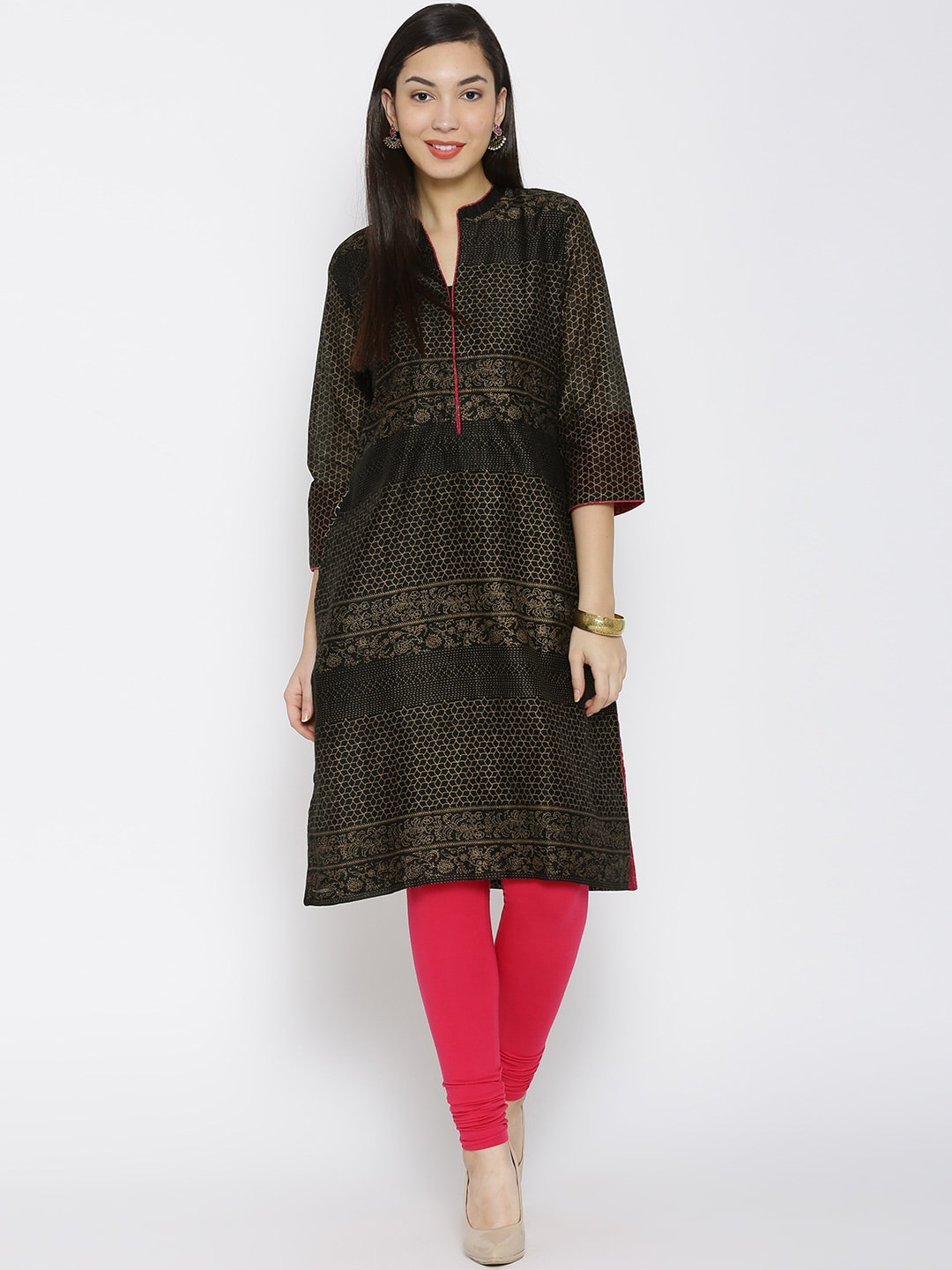 860567752 Rangmanch By Pantaloons Mandarin Collar Kurtas - Buy Rangmanch By Pantaloons  Mandarin Collar Kurtas online in India