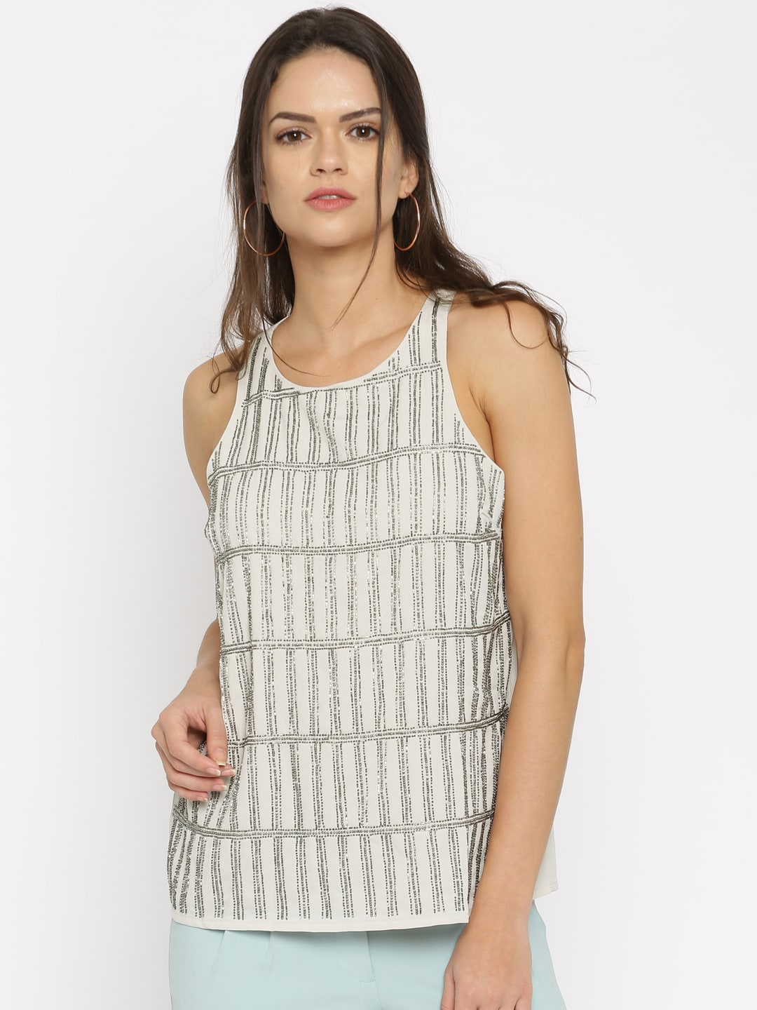 c93f49872841a Only Sleeveless Tops - Buy Only Sleeveless Tops online in India