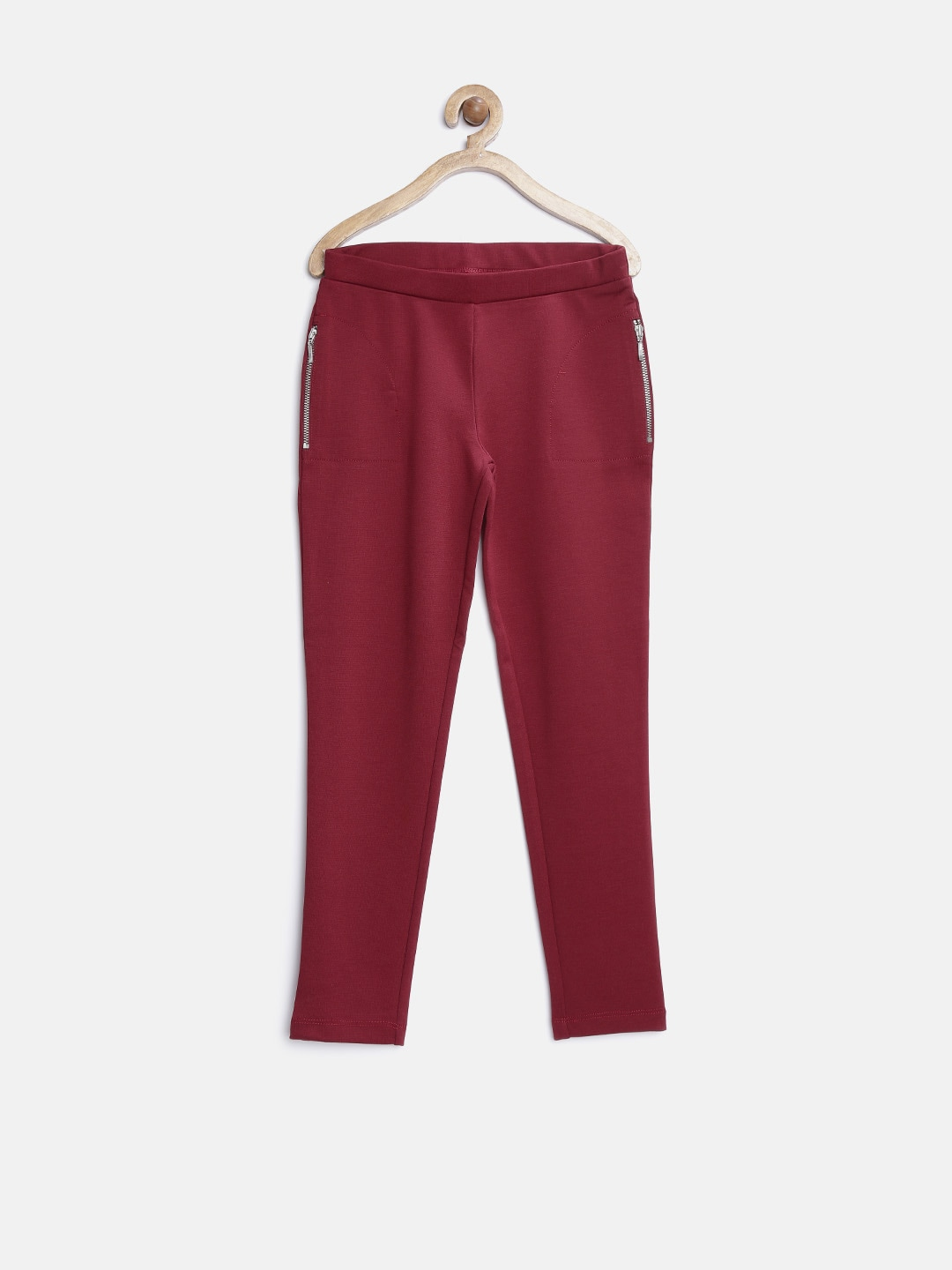 United Colors of Benetton Girls Maroon Jeggings