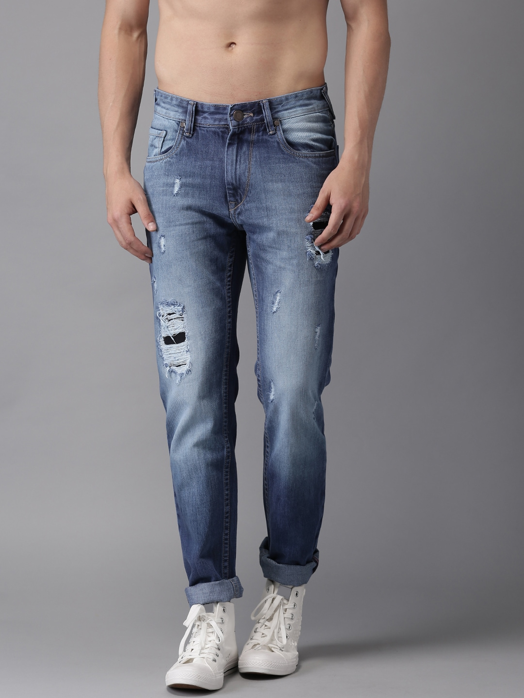 2345164cf Men Ripped Jeans Trunk - Buy Men Ripped Jeans Trunk online in India