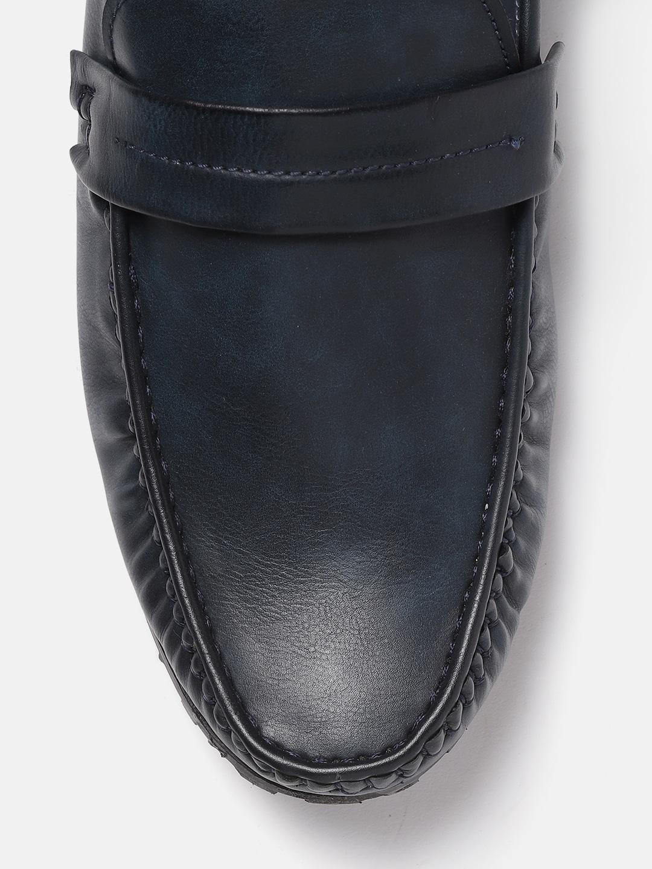 Mast & Harbour Men Navy Blue Loafers