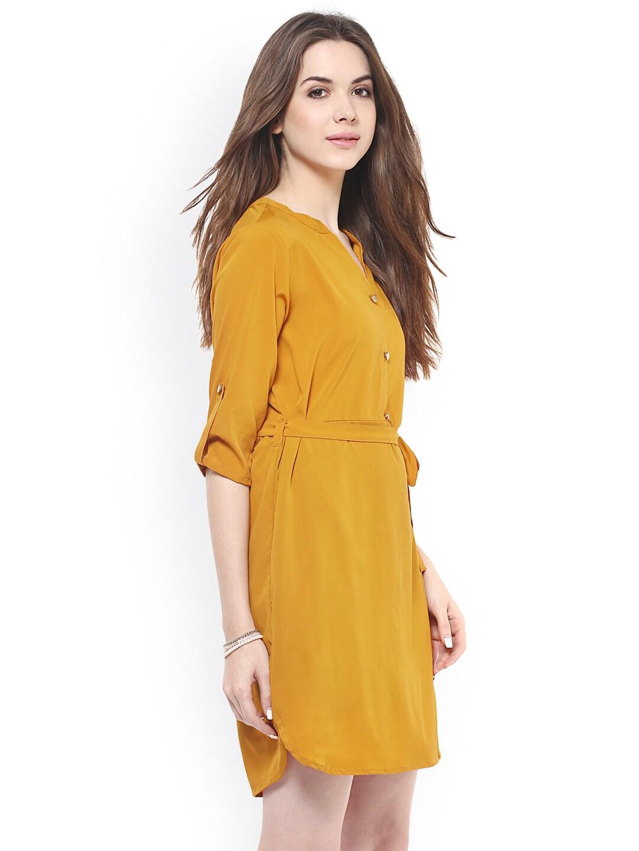 Mustard yellow dresses for girls
