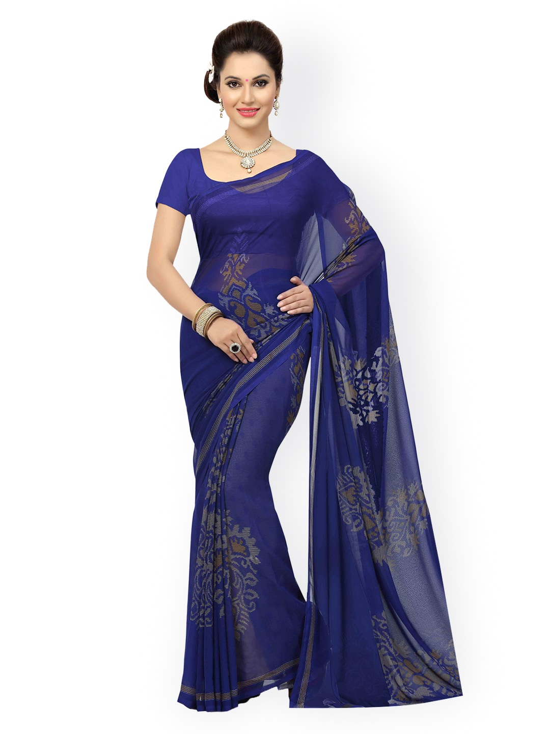 cfbf4eb947f6b3 Georgette Sarees - Buy Georgette Saree Online in India