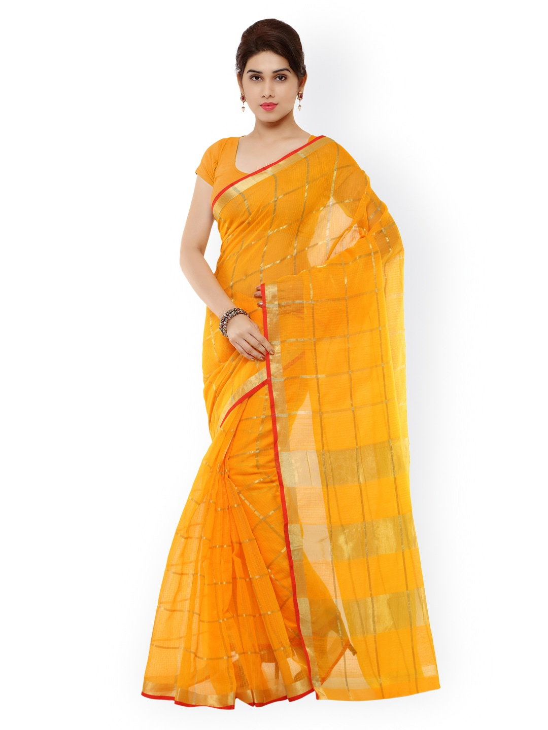 b04ffc02fed2a Yellow Saree - Buy Yellow Colour Saree Online