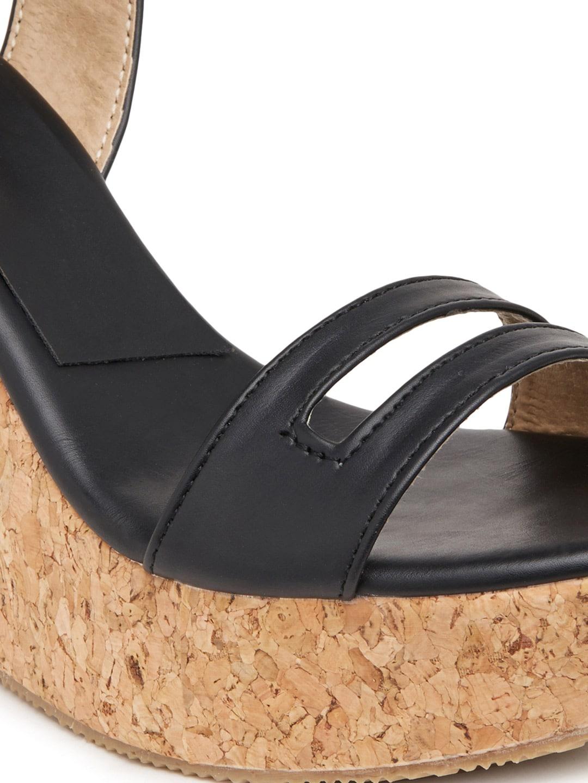 Marc Loire Women Black Solid Wedges