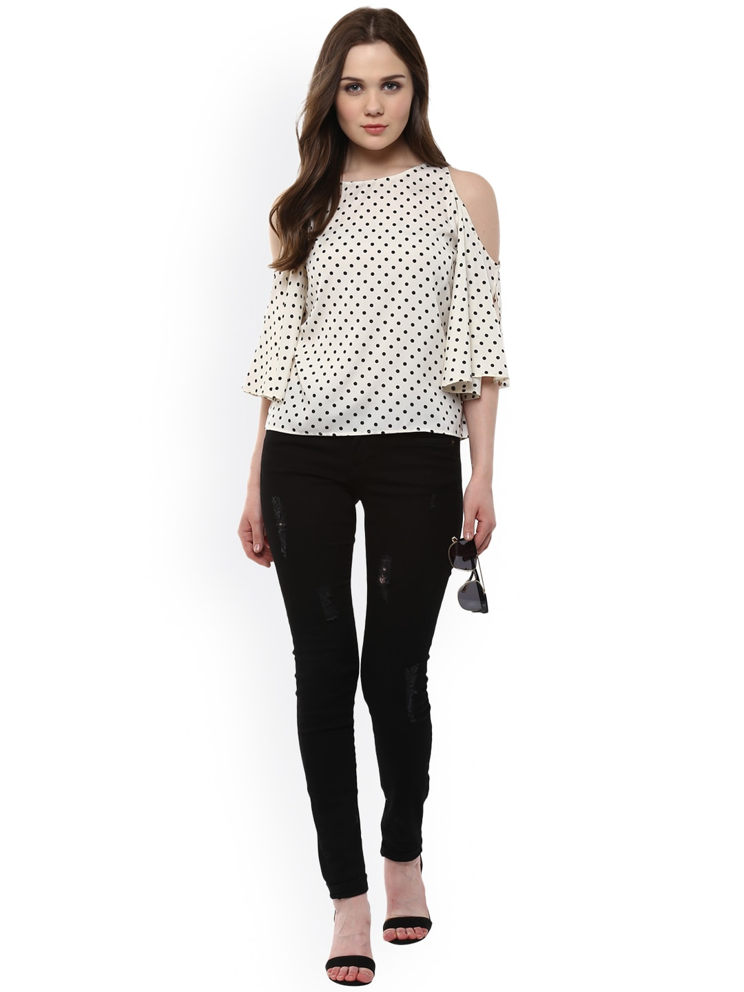 Women Polka Dot Tops - Buy Women Polka Dot Tops online in India