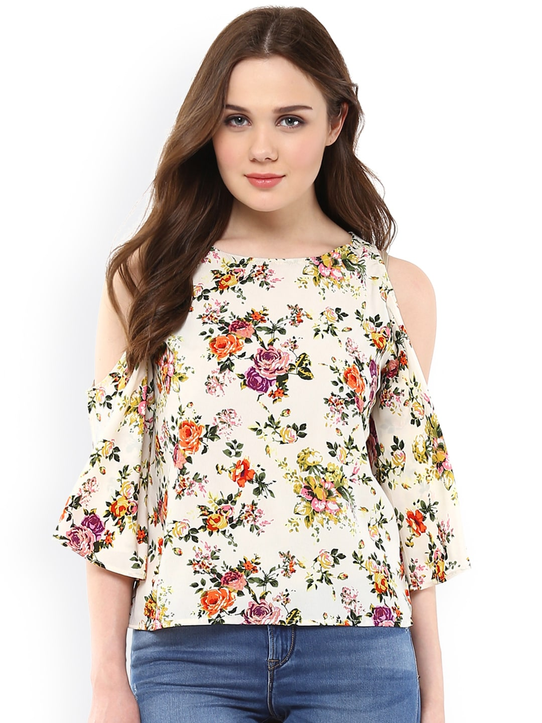 Cold Shoulder Tops - Buy Cold Shoulder Tops for Women Online - Myntra fe458d4a3580