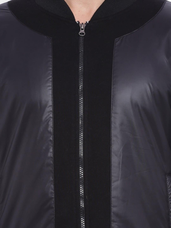Campus Sutra Black Bomber Jacket