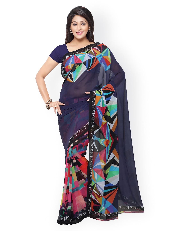 subhash sarees Multicoloured Georgette Printed Saree