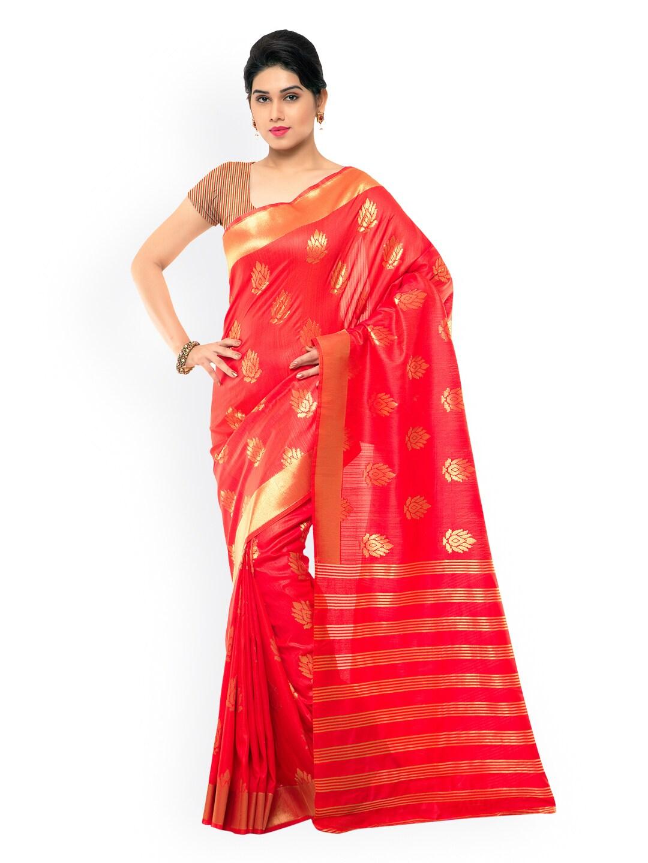 Varkala Silk Sarees Red Bhagalpuri Silk & Jacquard Traditional Saree