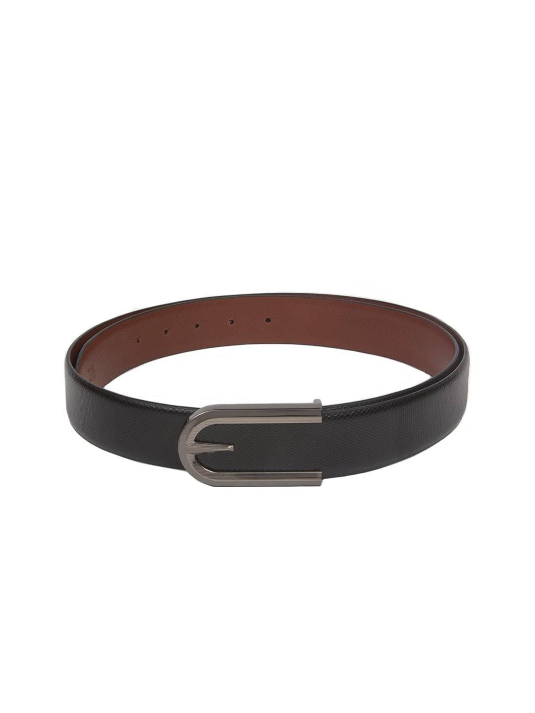 CHISEL Men Black Leather Belt