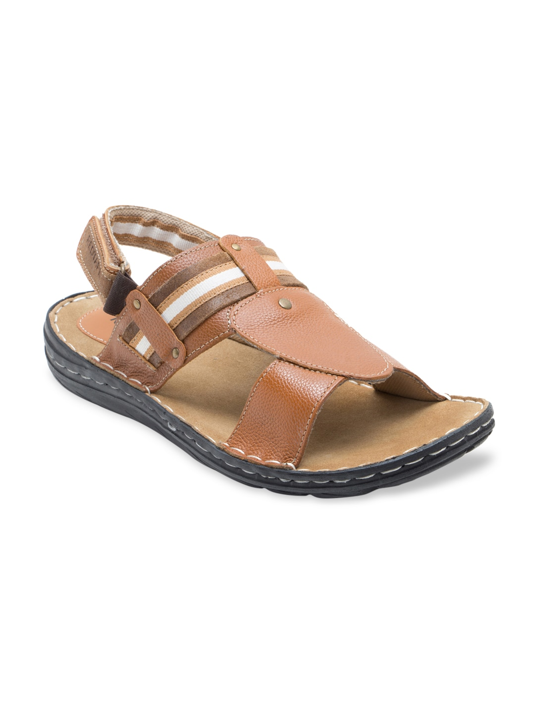 Tape Red Tan Men Sandals Leather Brown lKcT1JF