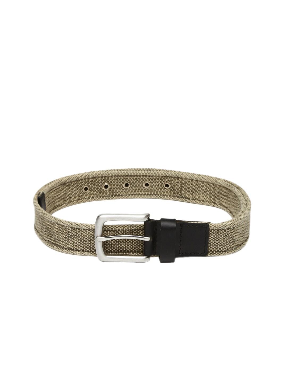 Celio Men Beige & Olive Green Belt