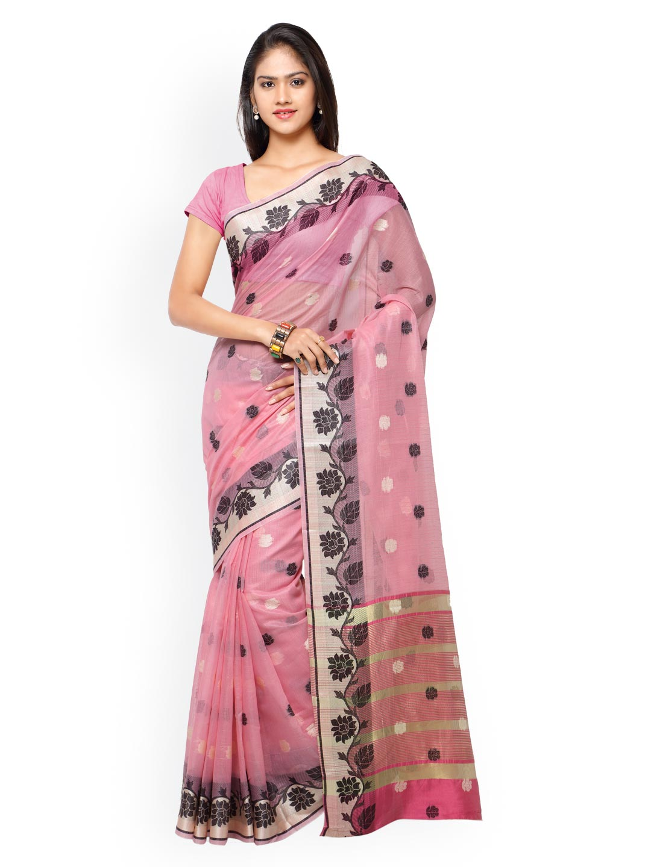 Varkala Silk Sarees Pink Chanderi Silk Traditional Saree