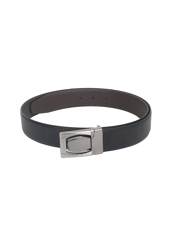 CHISEL Men Black Leather Belt