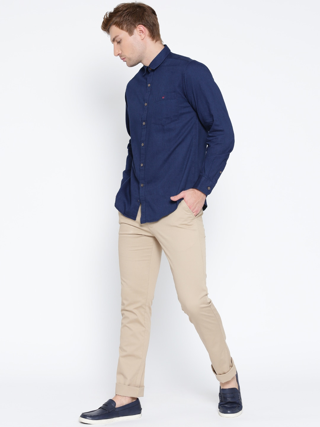 Dark Blue Shirts - Buy Dark Blue Shirts online in India