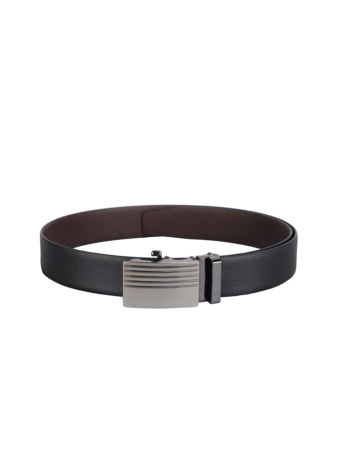 Teakwood Leathers Men Black Leather Belt