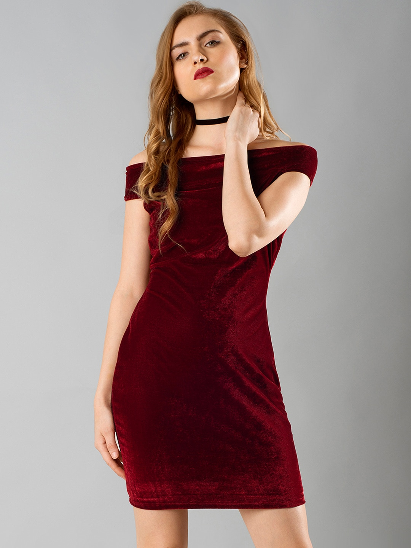 0397da749202 Faballey Off Shoulder Dresses - Buy Faballey Off Shoulder Dresses online in  India