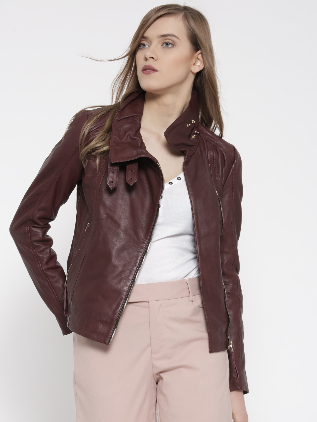 Mango Mock Collar Jackets Buy Mango Mock Collar Jackets Online In