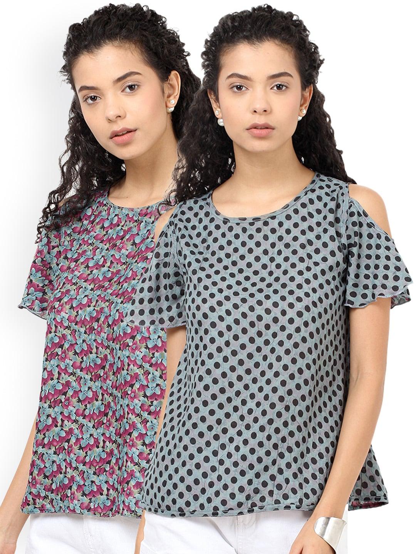 Besiva Women Pack of 2 Printed Tops