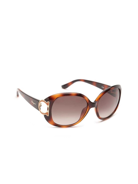 Salvatore Ferragamo Women Printed Oval Sunglasses SF668S 238