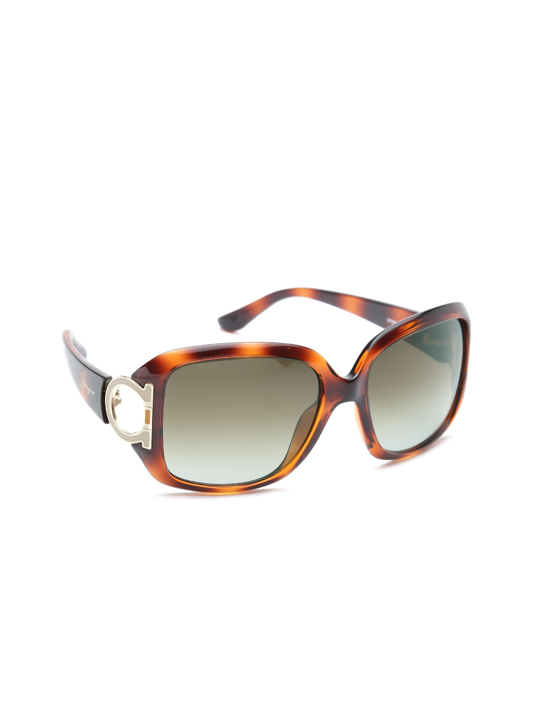 Salvatore Ferragamo Women Printed Square Sunglasses SF666S 238
