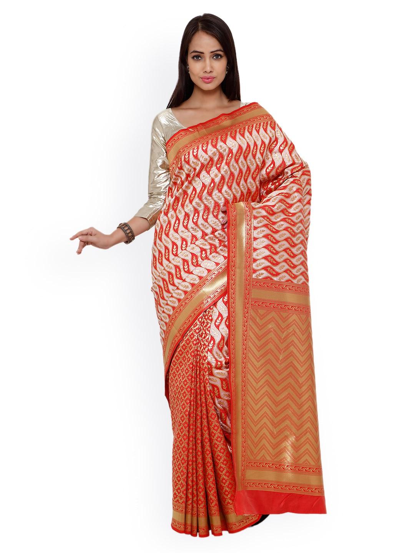 Varkala Silk Sarees Red Kanjeevaram Art Silk Traditional Saree