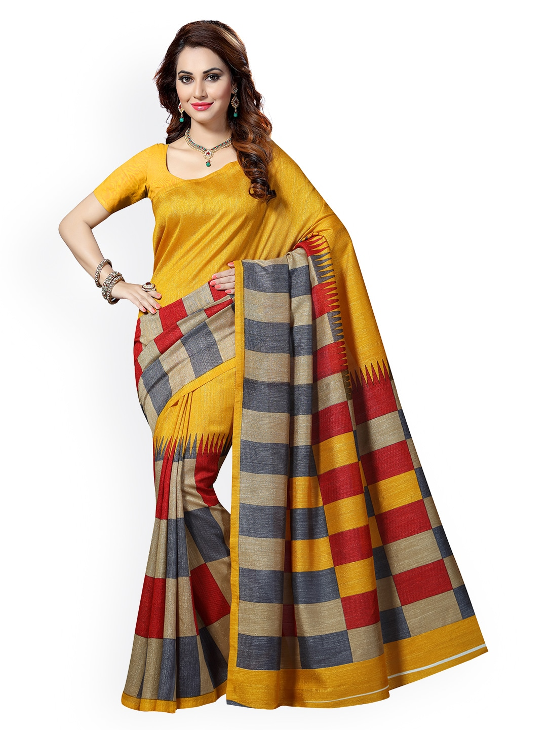 d741a3595f Checked Saree - Buy Elegant Checked Sarees Collection Online