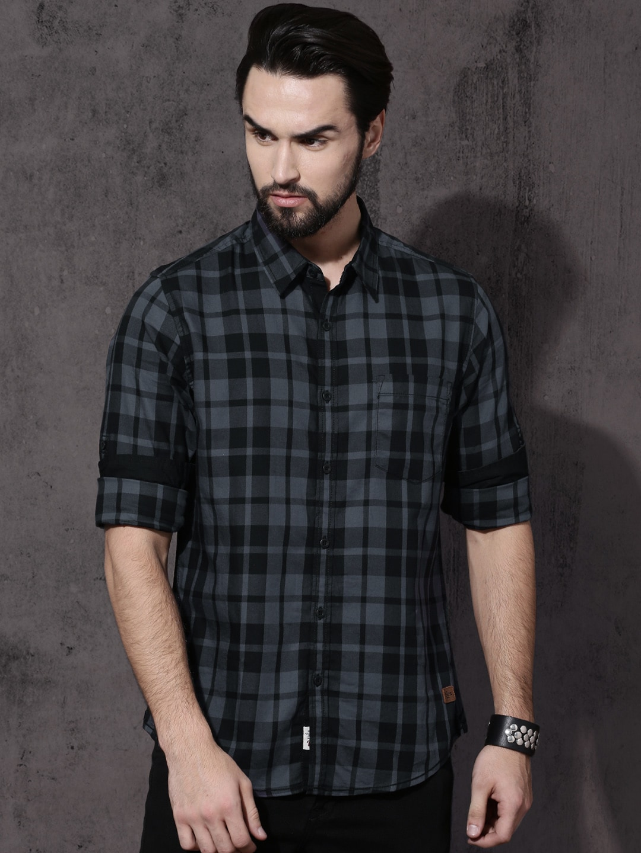 5abdbf704bf4d Men Black Shirts