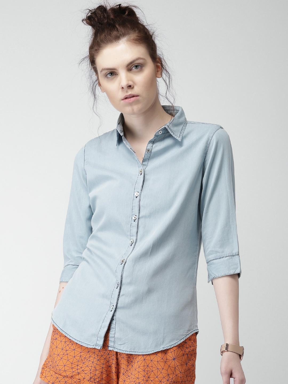 Mast & Harbour Women Blue Casual Shirt