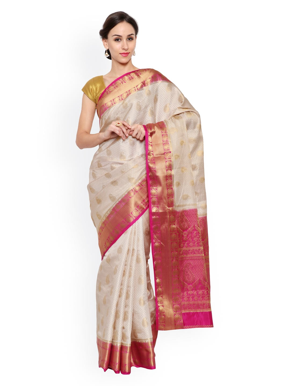 4ca064b95ca6b Off White Saree - Buy Off White Sarees Online in India