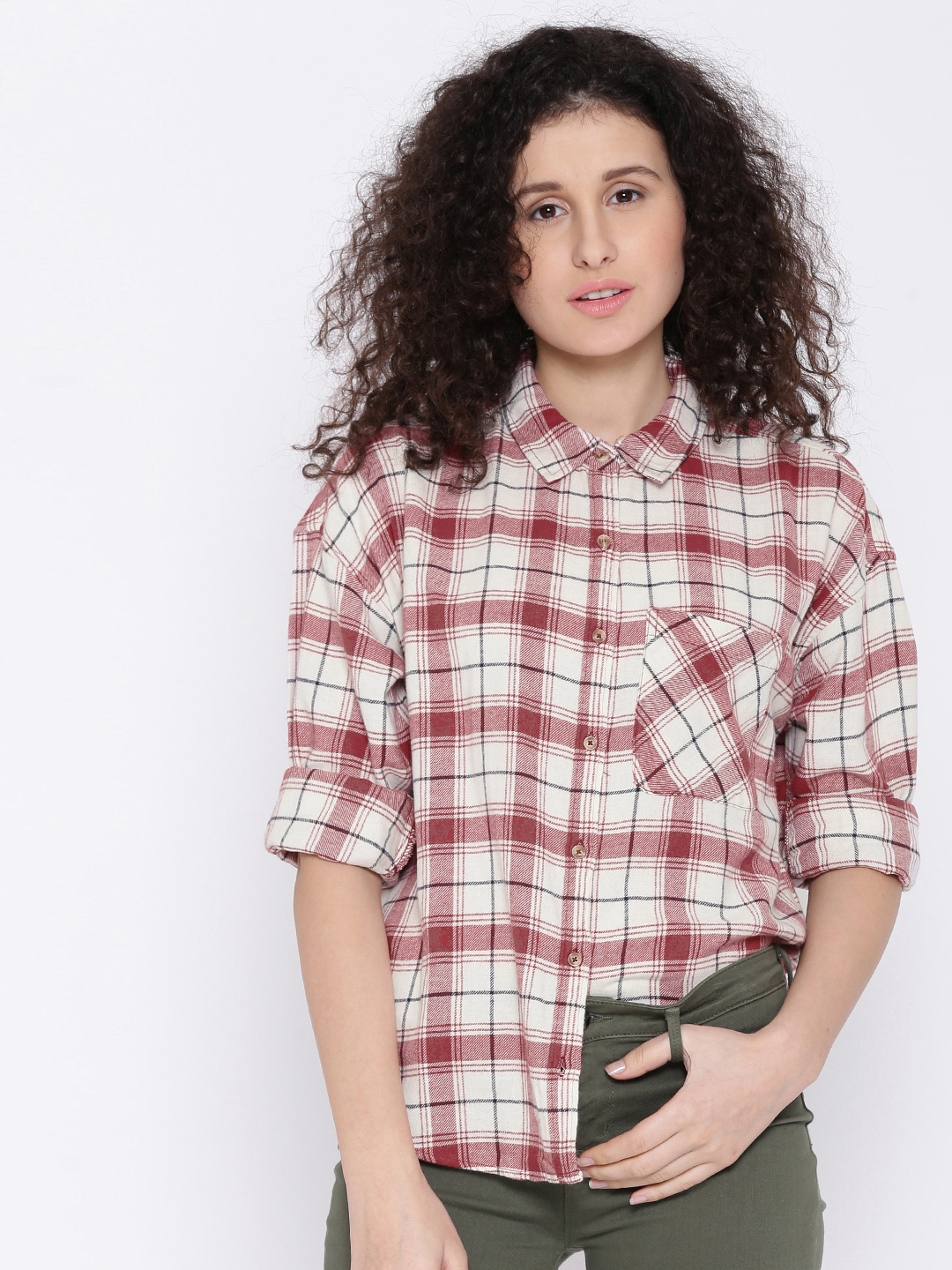 0bd8b44e1c1a35 Forever 21 Checked Apparel - Buy Forever 21 Checked Apparel online in India