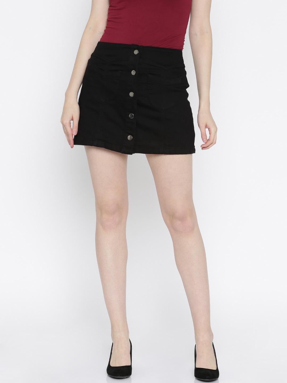 Buy Forever 21 Rust Orange Denim Skirt - Skirts for Women | Myntra