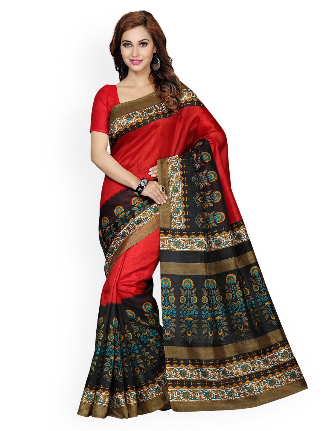 578cdadc039 Ishin Art Silk Printed Sarees - Buy Ishin Art Silk Printed Sarees online in  India