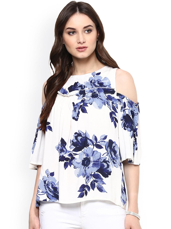 dd6352f2e5671 Cold Shoulder Tops - Buy Cold Shoulder Tops for Women Online - Myntra