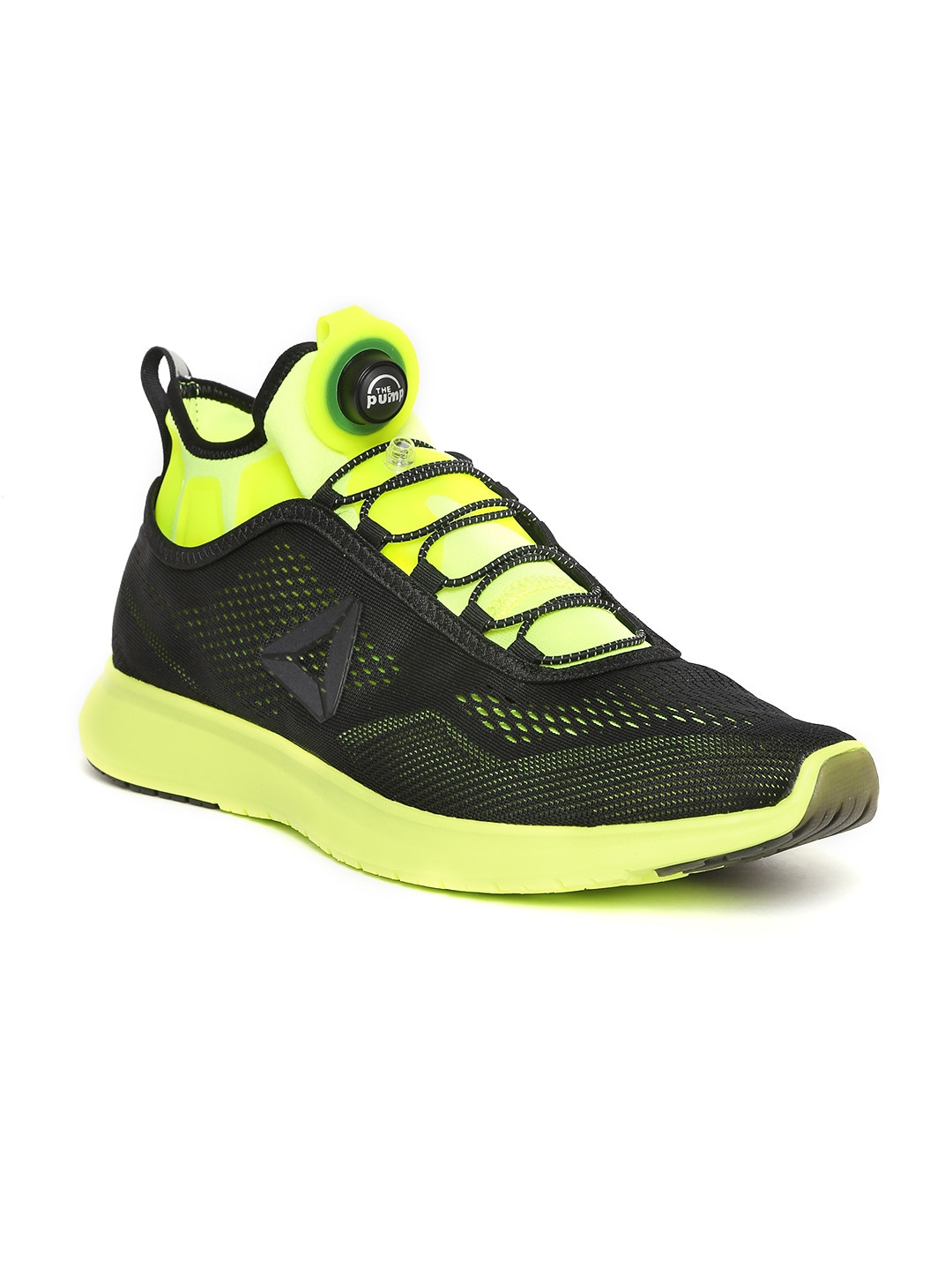 reebok mens running shoes. buy reebok men black pump plus tech running shoes - sports for | myntra mens o