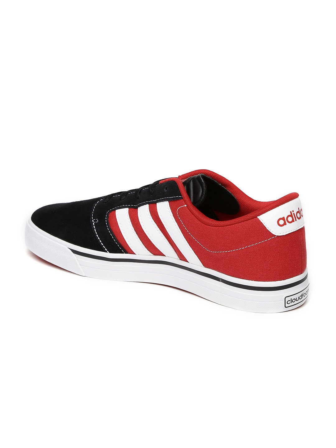 ... adidas neo leather red black ...