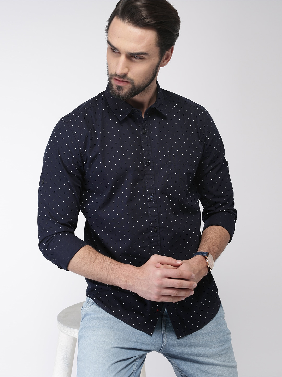 8716497fbe1 Polka Dots Shirts - Buy Polka Dots Shirts online in India
