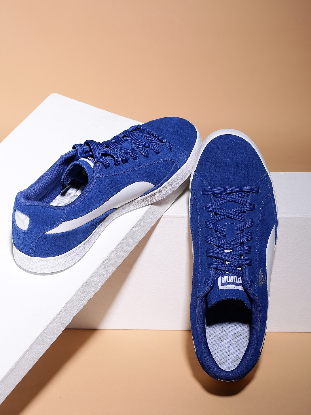 newest 5a52b 98f74 Puma Men Blue Match Vulc 2 Suede Sneakers