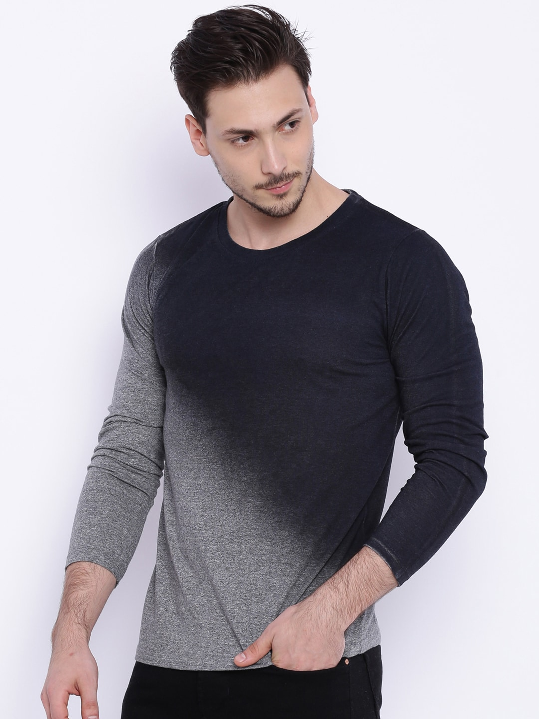Long sleeve t shirts for men online artee shirt for Full sleeves t shirts for men