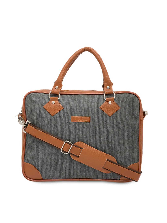 7a038c3aadeb MBOSS Unisex Grey Handmade Laptop Bag