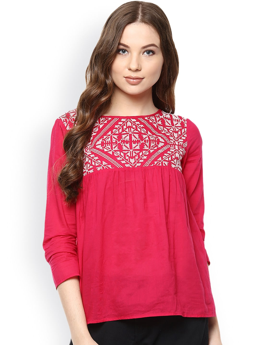 4b497b7c2e977f Women Pink Tops - Buy Women Pink Tops online in India