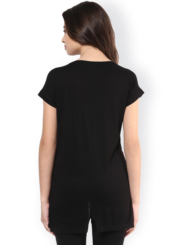 Black t shirt womens - Ajile By Pantaloons Tshirts Buy Ajile By Pantaloons Tshirts Online In India