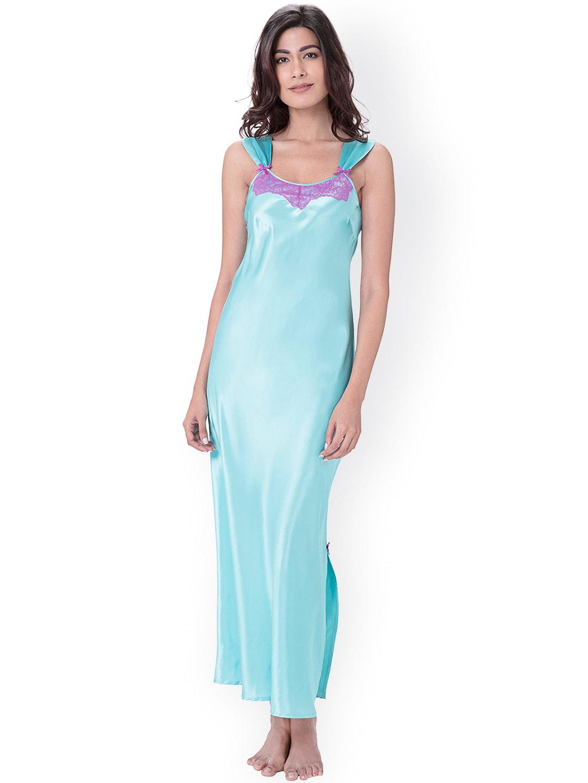 PrettySecrets Blue Maxi Nightdress PS1216SCL02