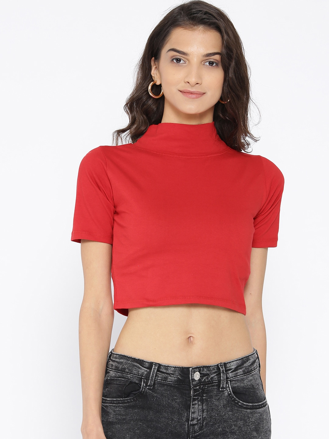 b41eb813401 Cation Red Crop Top