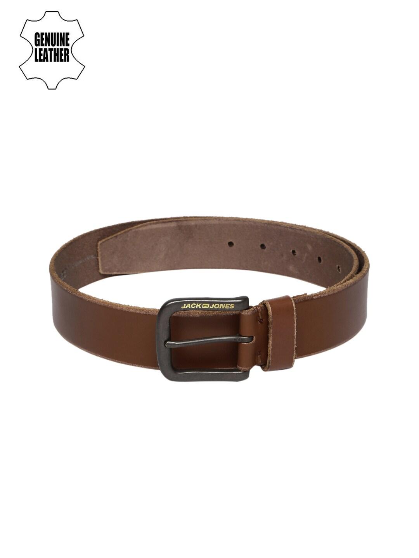 Jack & Jones Men Brown Jacob Genuine Leather Belt