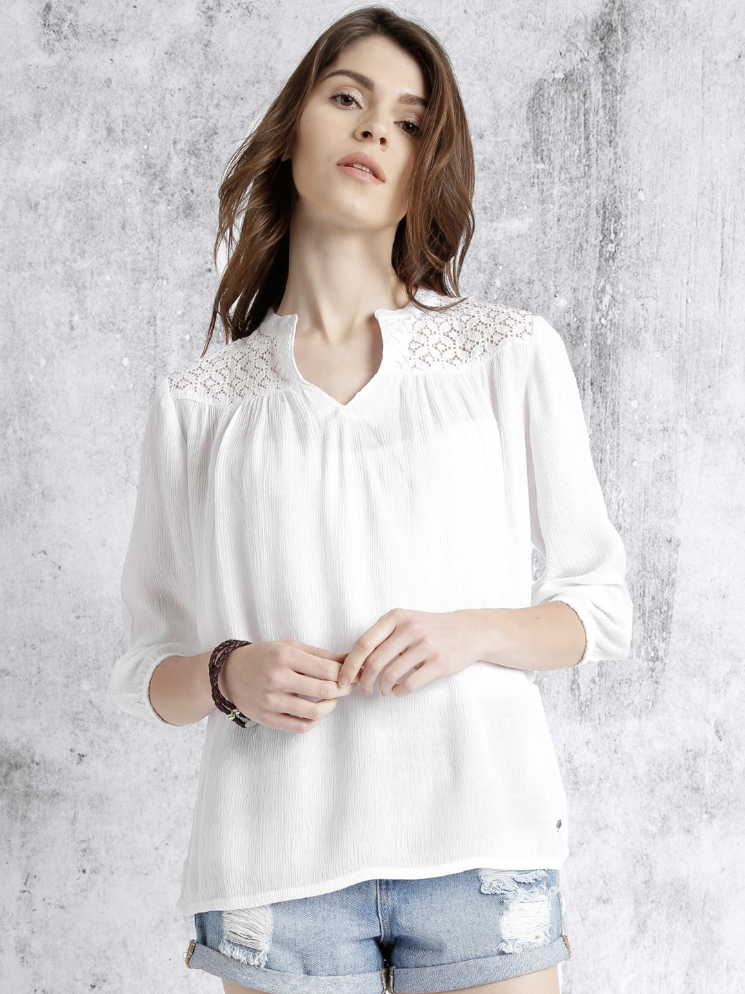 c6e76d3a11dfb0 Lace Tops - Buy Lace Tops for Women   Girls Online in India