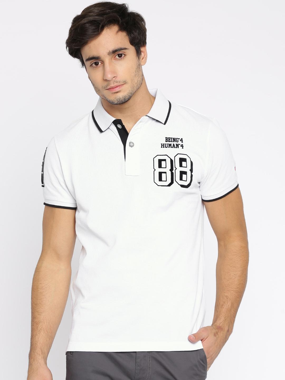 Black t shirt on flipkart - Black T Shirt Flipkart Buy Being Human Men Black Solid Polo Collar T Shirt Tshirts